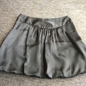 Olive Green Bubble Skirt with Pockets